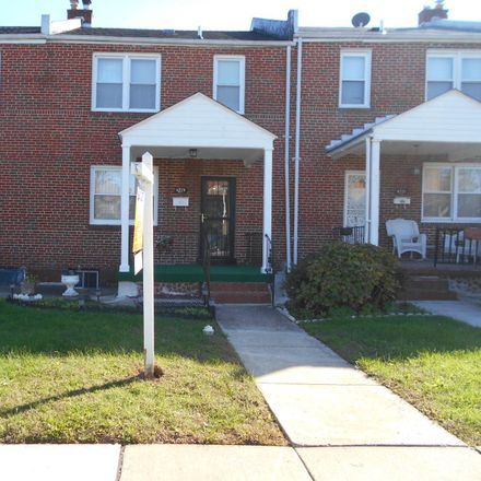 Rent this 3 bed townhouse on 4229 Norfolk Avenue in Baltimore, MD 21216
