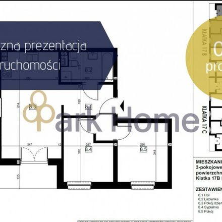 Rent this 3 bed apartment on Zamkowa in 64-130 Rydzyna, Poland