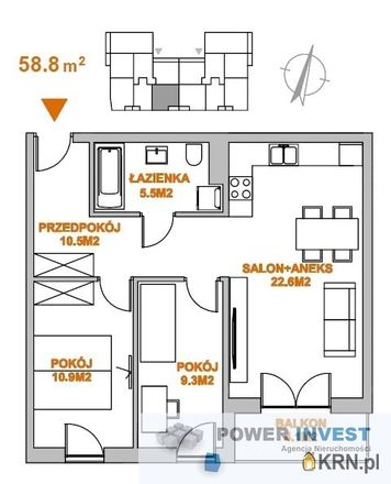 Rent this 3 bed apartment on Słomiana 27a in 30-361 Krakow, Poland