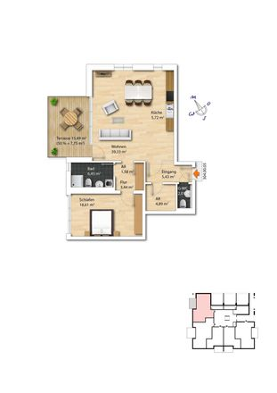 Rent this 2 bed apartment on Humboldtstraße 304 in 45149 Essen, Germany