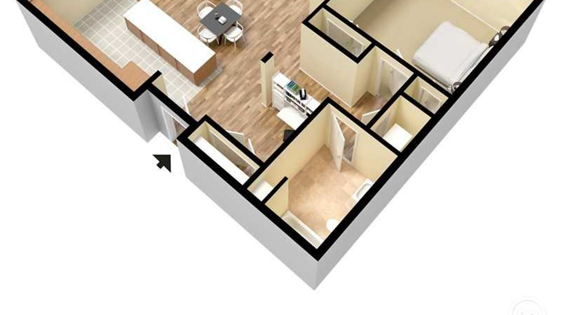 1 bed apartment at York Place Apartments, 3121 W 69th ...