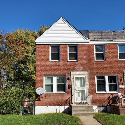 Rent this 2 bed townhouse on 3634 Dudley Avenue in Baltimore, MD 21213
