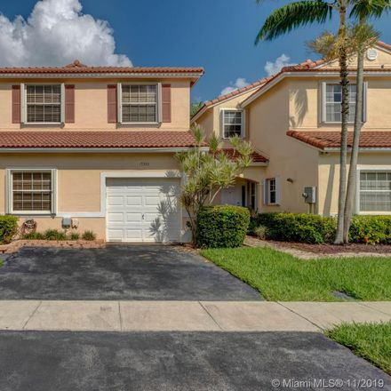 Rent this 3 bed townhouse on 17333 Northwest 6th Court in Pembroke Pines, FL 33029