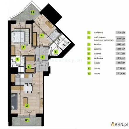 Rent this 3 bed apartment on Mogilska 80 in 31-546 Krakow, Poland