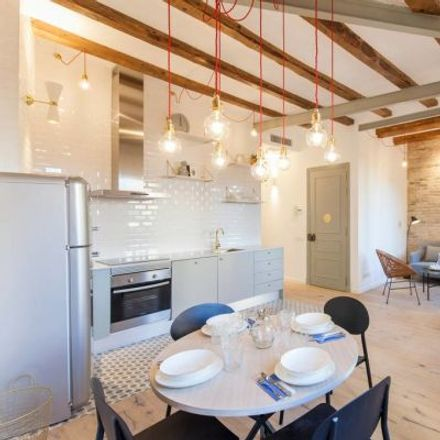 Rent this 4 bed apartment on The garage by Veronica Blume in Carrer de Magalhaes, 2