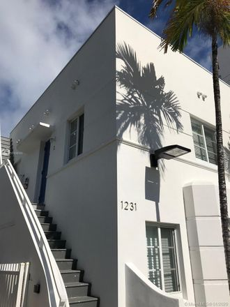Rent this 1 bed house on 1231 13th Street in Miami Beach, FL 33139