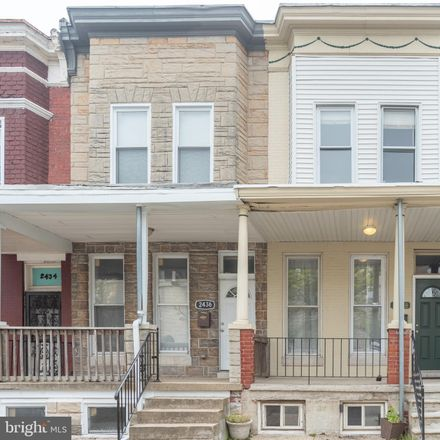 Rent this 3 bed townhouse on 2438 Barclay Street in Baltimore, MD 21218