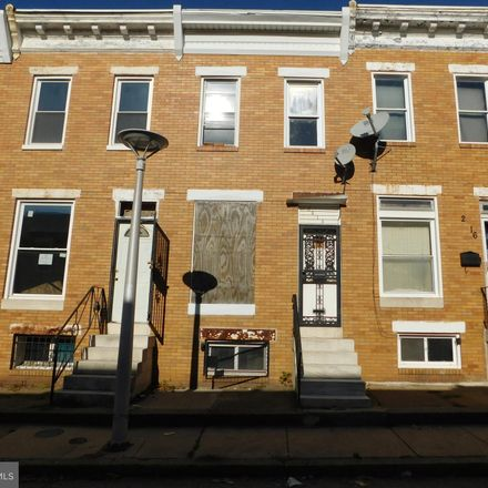 Rent this 3 bed townhouse on 2614 Grogan Avenue in Baltimore, MD 21213