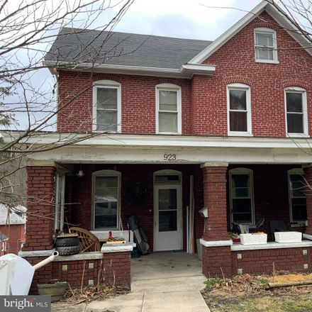 Rent this 4 bed house on 923 Bedford Street in Cumberland, MD 21502