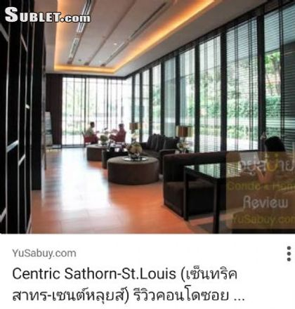 Rent this 1 bed apartment on Wat Don in Sathon District, Bangkok 10120