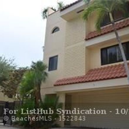 Rent this 3 bed townhouse on 1401 Northeast 9th Street in Fort Lauderdale, FL 33304