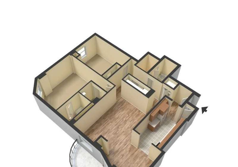 2 bed apartment at The Durham, 7201 York Avenue South ...