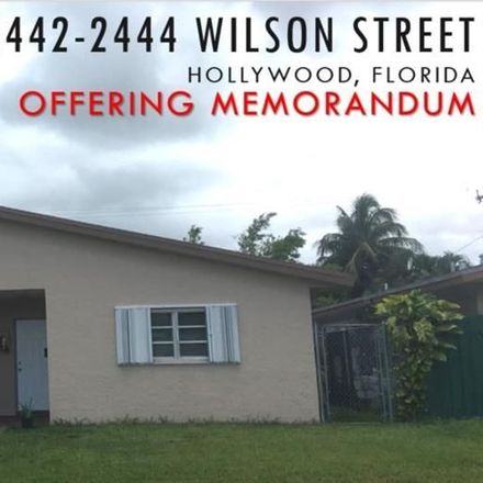Rent this null bed duplex on 2442 Wilson Street in Hollywood, FL 33020