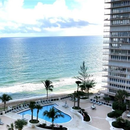Rent this 2 bed condo on 4250 Galt Ocean Drive in Fort Lauderdale, FL 33308