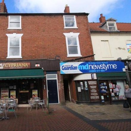 Rent this 1 bed apartment on Over the Rainbow in Shopping Arcade, Bassetlaw S80 1NZ