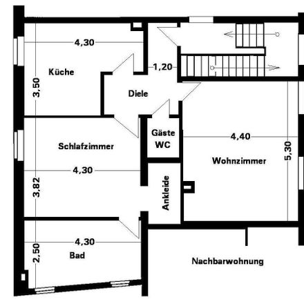 Rent this 2 bed apartment on Flockenfeld 98 in 46049 Oberhausen, Germany