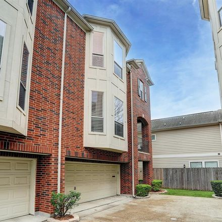 Rent this 3 bed townhouse on 1014 Studer Street in Houston, TX 77007
