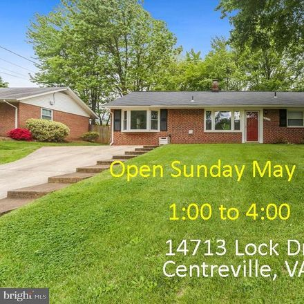 Rent this 3 bed house on 14713 Lock Drive in Centreville, VA 20120
