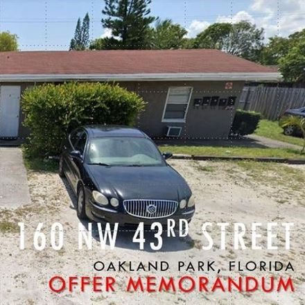 Rent this null bed duplex on 160 Northwest 43rd Street in Oakland Park, FL 33309