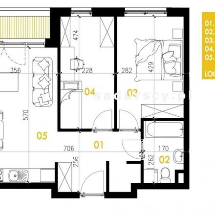 Rent this 3 bed apartment on Przewóz 32 in 30-715 Krakow, Poland