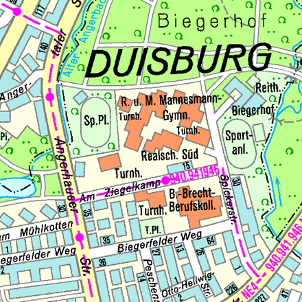 Rent this 2 bed apartment on Angerhauser Straße 8 in 47259 Duisburg, Germany