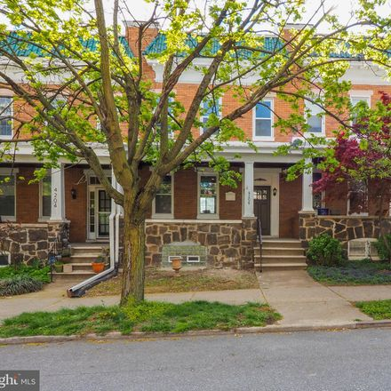 Rent this 3 bed townhouse on 4206 Falls Road in Baltimore, MD 21211