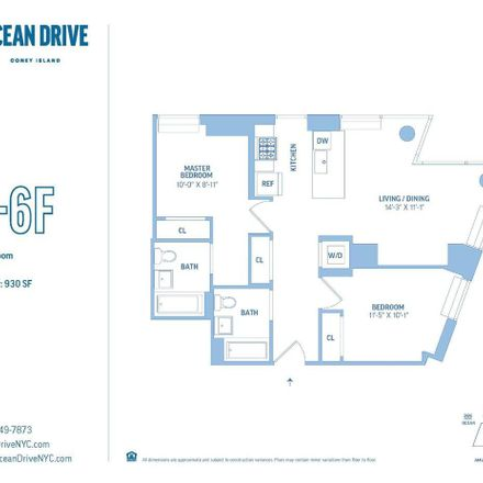 Rent this 2 bed apartment on 3514 Surf Ave in Brooklyn, NY 11224