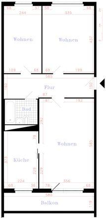 Rent this 3 bed apartment on Ernst-Busch-Straße 12 in 08412 Werdau, Germany