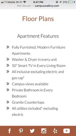 Rent this 1 bed room on Campus Walk Apartments in Rees Street, Buffalo