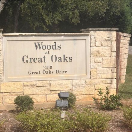 Rent this 3 bed condo on 2410 Great Oaks Dr in Round Rock, TX