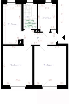Rent this 3 bed apartment on Gartenweg 25 in 08412 Werdau, Germany