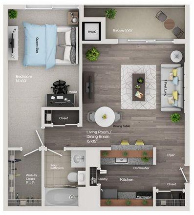 Rent this 1 bed apartment on Bam Bamz! in Washington Boulevard, Detroit