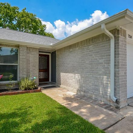 Rent this 3 bed house on 7514 Trabajo Dr in Houston, TX