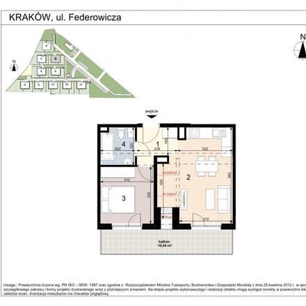 Rent this 2 bed apartment on Mochnaniec 16 in 30-395 Krakow, Poland