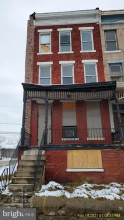 Rent this 3 bed townhouse on 1756 East North Avenue in Baltimore, MD 21213