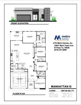 Rent this 4 bed apartment on Cervantes Ct in El Paso, TX