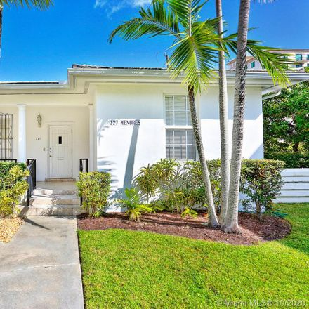 Rent this 2 bed apartment on 227 Menores Avenue in Miami, FL 33134