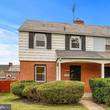 Rent this 3 bed townhouse on 1532 Windemere Avenue in Baltimore, MD 21218
