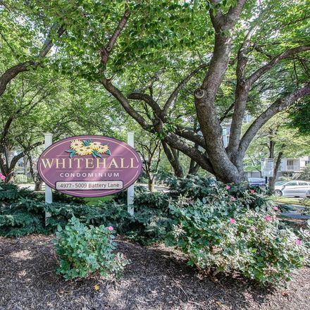 Rent this 2 bed condo on 4977 Battery Lane in Bethesda, MD 20814