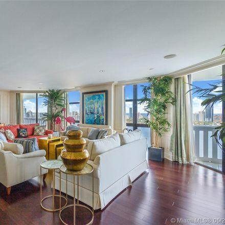 Rent this 3 bed condo on 3000 Island Boulevard in Aventura, FL 33160