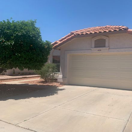 Rent this 3 bed house on 826 South Presidio Drive in Gilbert, AZ 85233