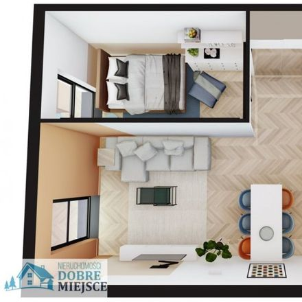 Rent this 2 bed apartment on Mała Droga in 86-010 Koronowo, Poland