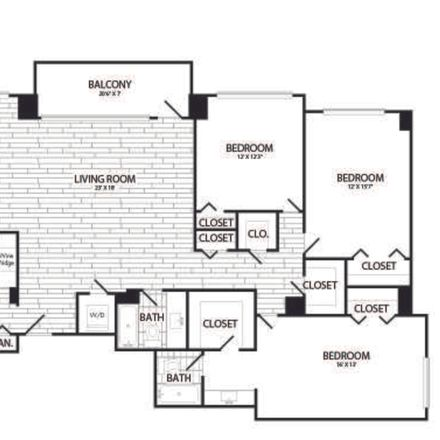 Rent this 1 bed apartment on Richmond Highway in Arlington, VA 22202