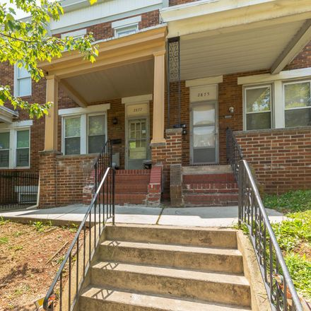 Rent this 3 bed townhouse on 2877 Mayfield Avenue in Baltimore, MD 21213