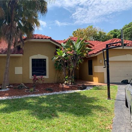 Rent this 4 bed house on 11080 Northwest 18th Court in Plantation, FL 33322