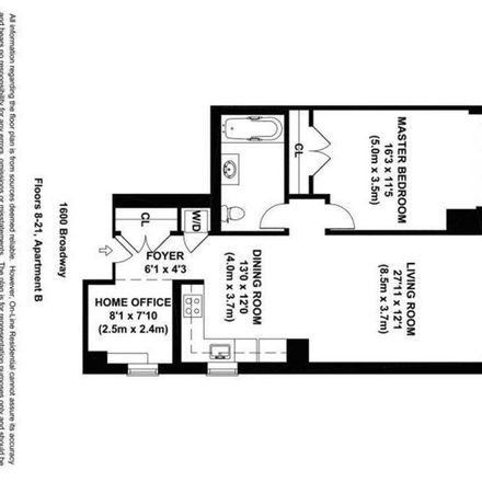 Rent this 1 bed apartment on 1600 Manhattan in New York, NY