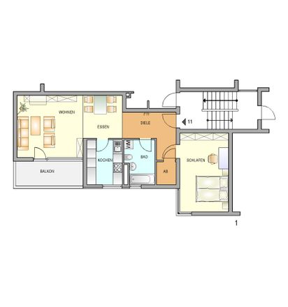 Rent this 2 bed apartment on Christian-Meyer-Straße 1-3 in 42897 Kleebach, Germany