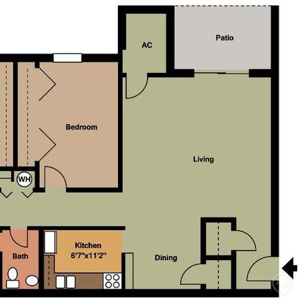 Rent this 2 bed apartment on L in NC 54, Carrboro