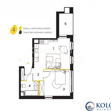 Rent this 2 bed apartment on Bobrowiecka 5 in 00-728 Warsaw, Poland