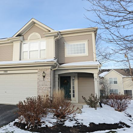 Rent this 2 bed townhouse on 590 Yorkshire Lane in Pingree Grove, IL 60140